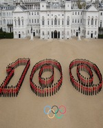 guards-form-the-figure-100-to-mark-100-days-to-go-to-the-olympic-games cr